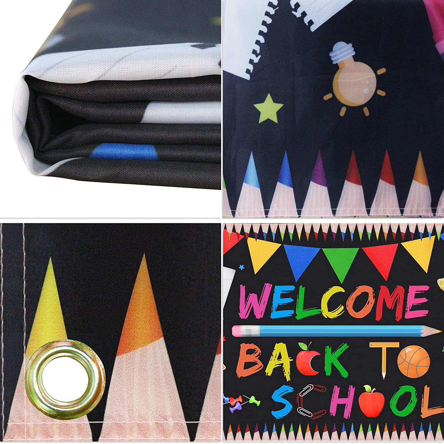 Cheap Welcome Back To School Banner Extra Large Fabric 70