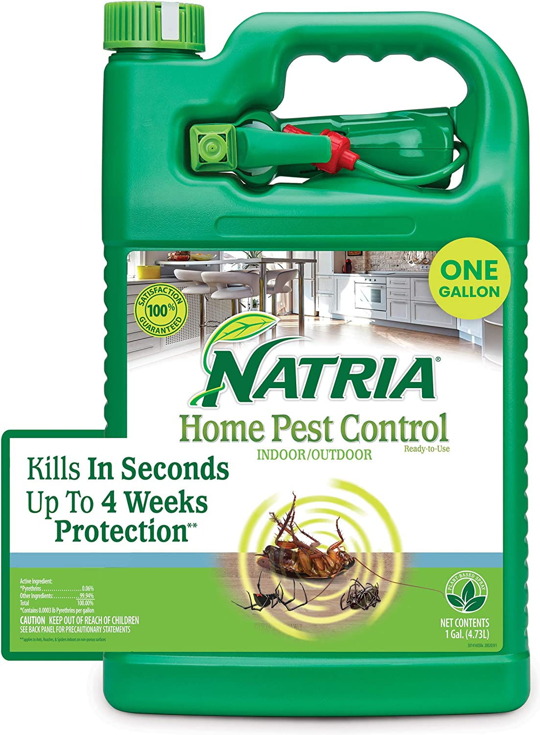 Natria 706261A Home Pest Control Bug Killer for Indoor and Outdoor, 1-Gallon, Ready-to-Use
