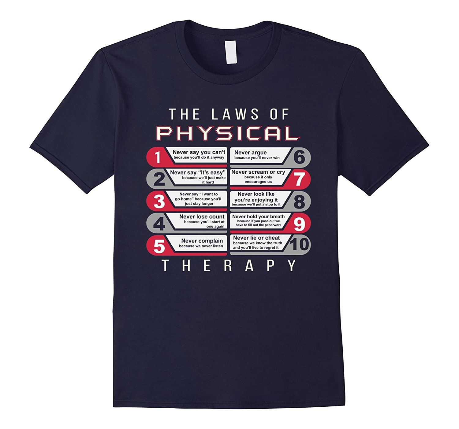 the laws of physical therapy awesome therapist gift t