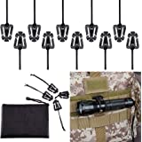BOOSTEADY Pack of 10 Tactical Gear Clip Molle Web Dominators for Outdoor Hydration Tube Backpack Straps Management with…