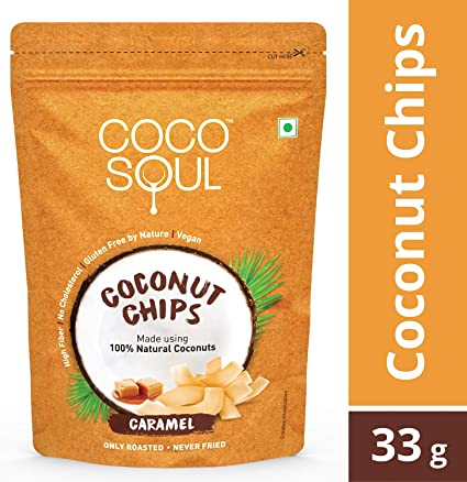 Coco Soul Coconut Chips, Caramel, 33g