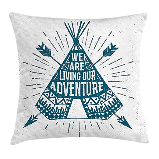 Xukmefat Funda de cojín Adventure Throw Pillow, Teepee ...