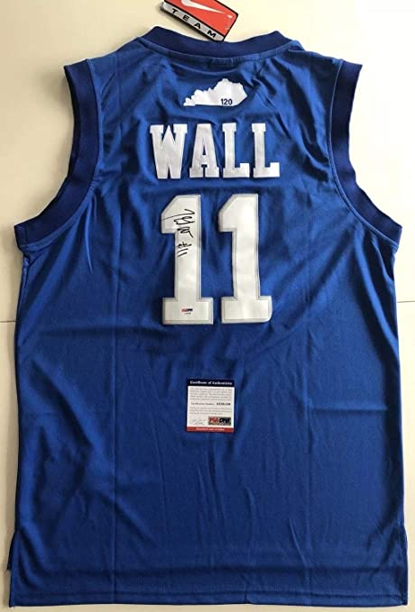 9ebeacaf5 Image Unavailable. Image not available for. Color  John Wall Autographed  Signed Kentucky Wildcats Jersey Memorabilia PSA DNA COA  11 ...
