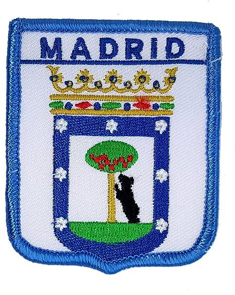 Parche bordado de escudo de la bandera del condado de España Madrid: Amazon.es: Hogar