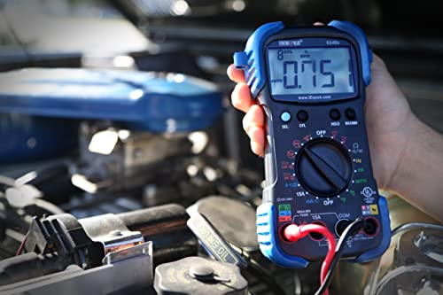 Testing a car battery with a digital multimeter