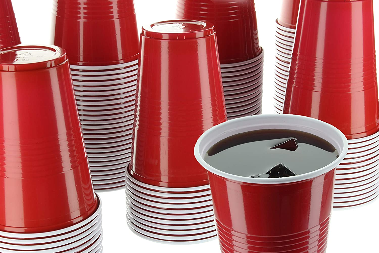 Impresionserve vasos desechables de chupito, 2 oz Mini rojo fiesta vasos de plástico para cerveza Pong, Rum, Gin, cócteles, whisky, sabores y muestras, 120 piezas: Amazon.es: Hogar