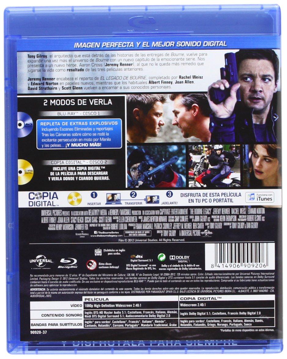 Amazon.com: El Legado De Bourne (Blu-Ray) (Import Movie) (European Format - Zone B2) (2013) Jeremy Renner; Rachel Weisz; E: Movies & TV