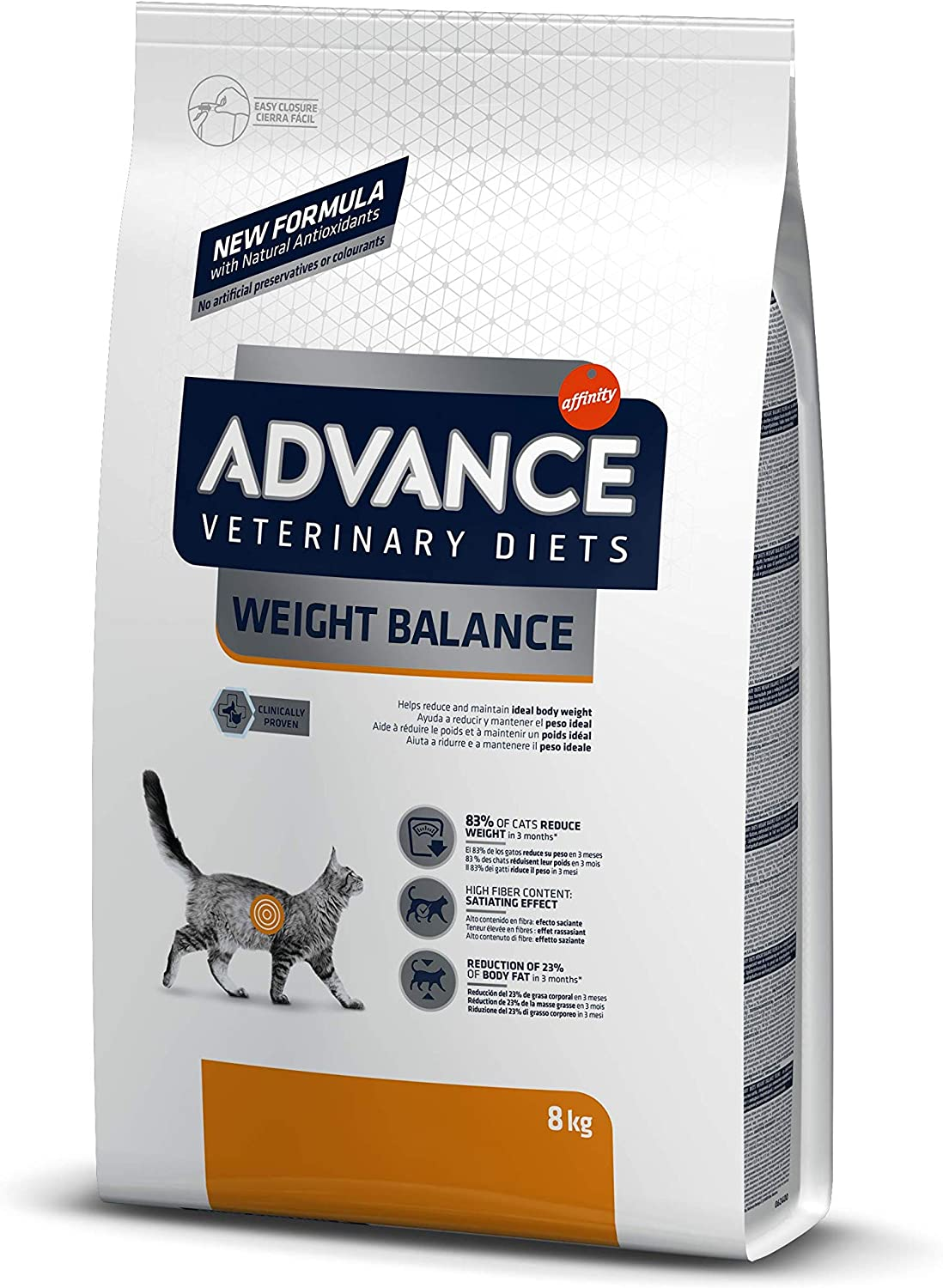 Advance Veterinary Diets Weight Balance - Pienso para Gatos con Problemas de Sobrepeso - 8kg: Amazon.es: Productos para mascotas