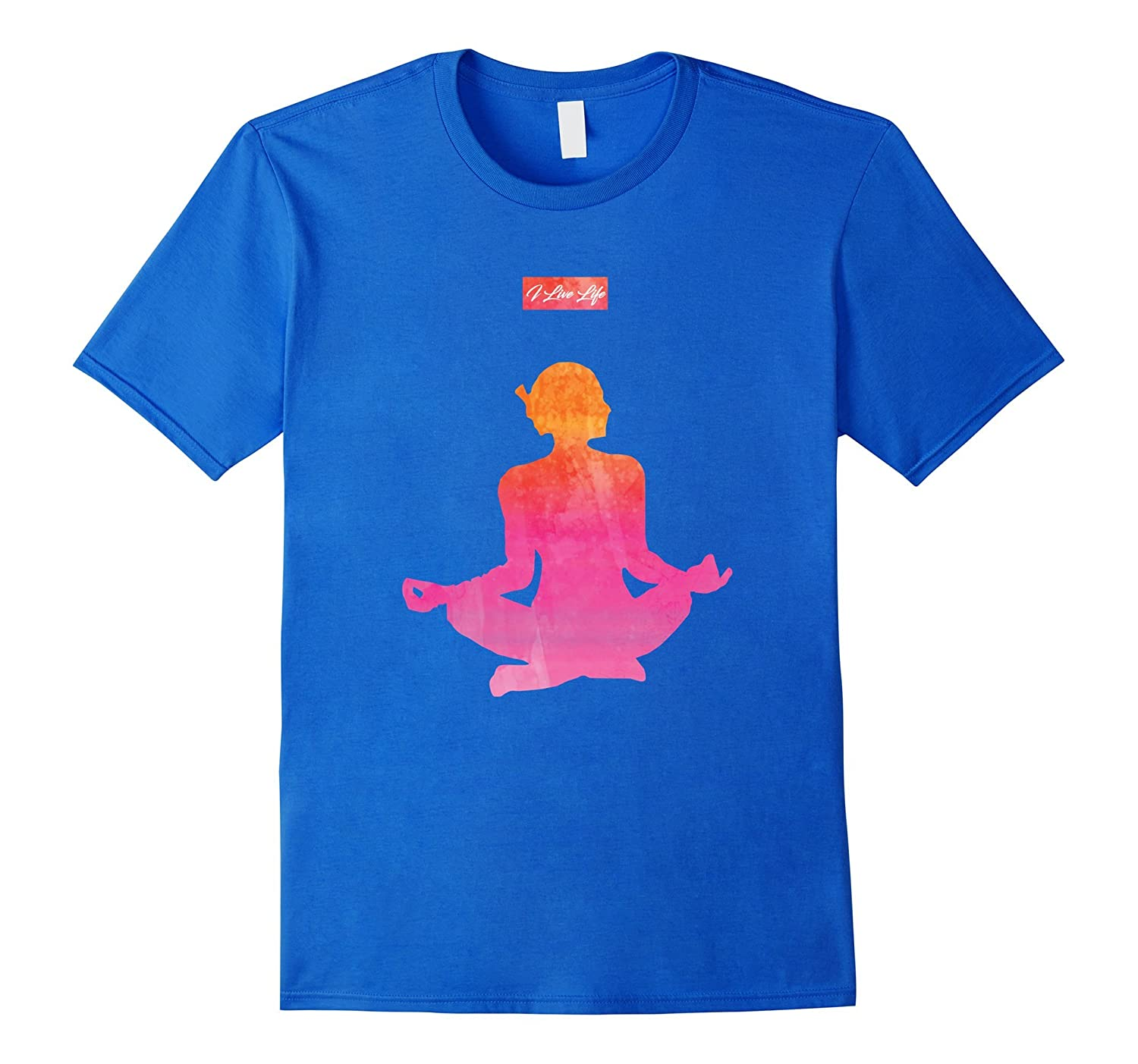 I Live Life Strong Yoga Pose Athletic Sports Workout Top
