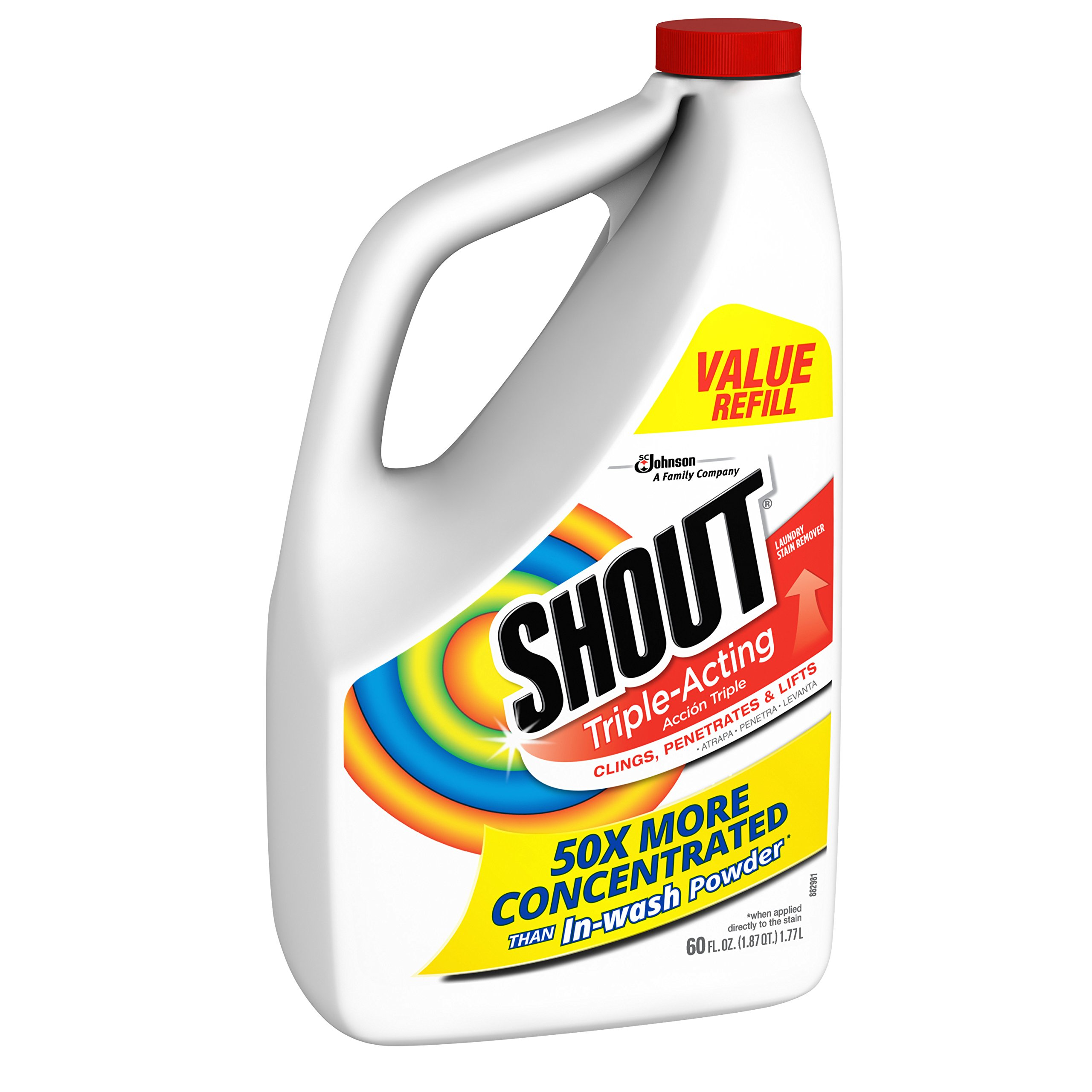 Shout Triple-Acting Liquid Refill 60 fl oz. (Pack of 6) by Shout (Image #3)