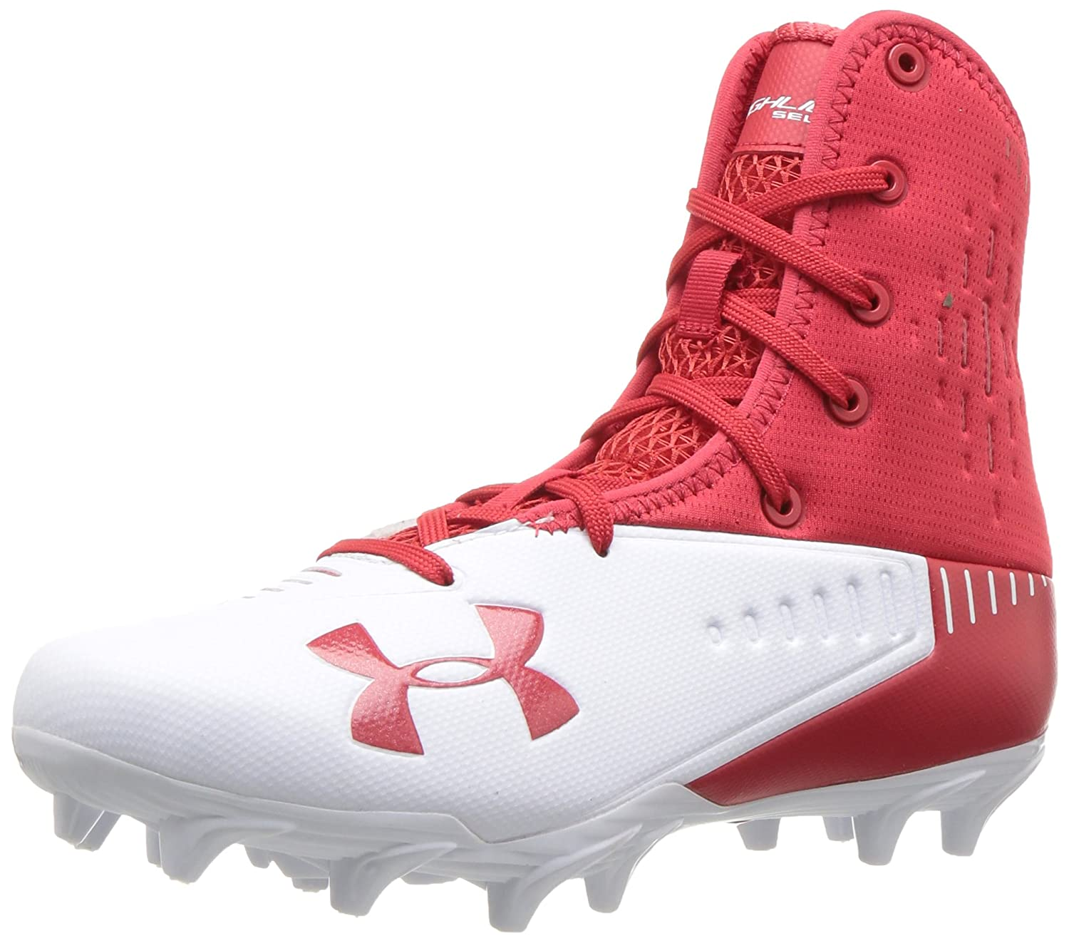 Under Armour Men's Highlight Select MC Football Shoe B071Z92DYB 8.5 M US|Red (600)/White