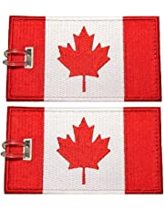 Luggage Tags, Canadian Flag, Embroidered, 2 Pack, 14 COLORS, NEVER BREAK!