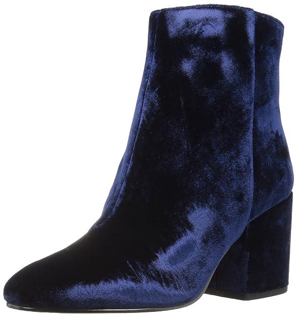 Sam Edelman Women's Taye Ankle Boot, Fall Boot Blue Velvet Boots Women