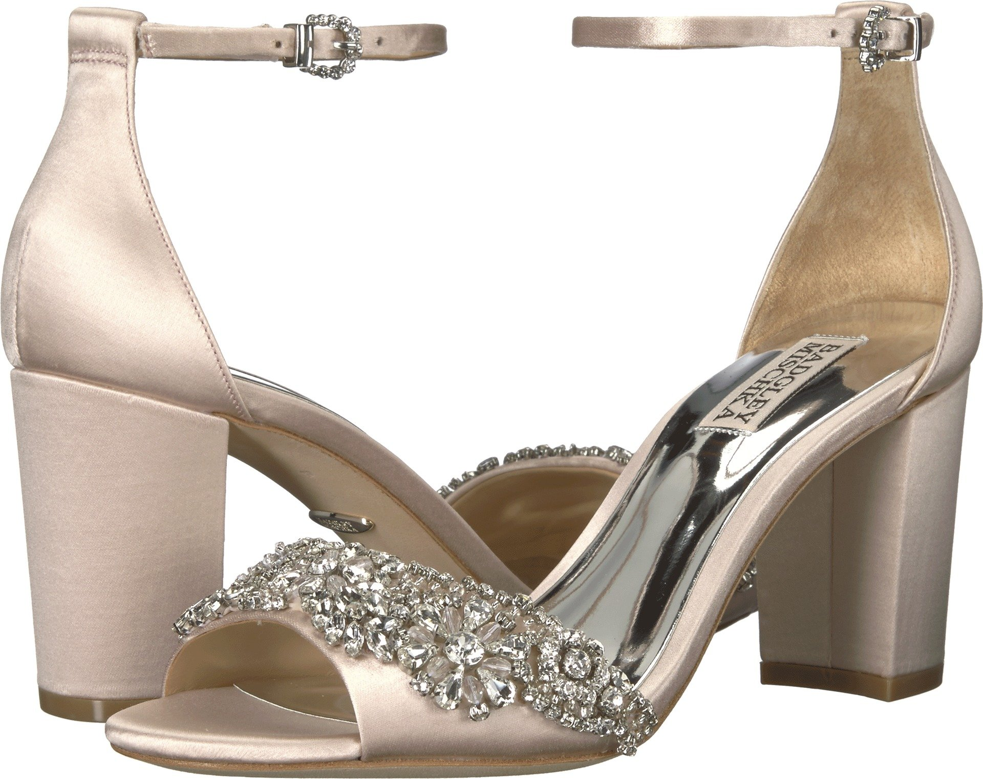 Badgley Mischka Women's Hines Heeled Sandal, Light Pink, 9.5 M US