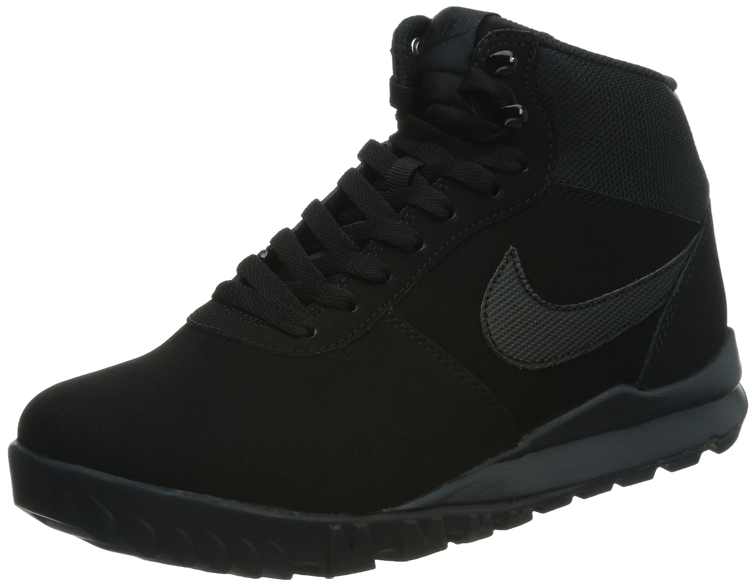 NIKE Men's Hoodland Suede Black/Black/Anthracite Boot 7.5 Men US