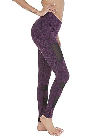 e00a05c598 QUEENIEKE Women Power Tech Mesh Medium Waist Gym Yoga Leggings Running  Tights: Amazon.co.uk: Clothing