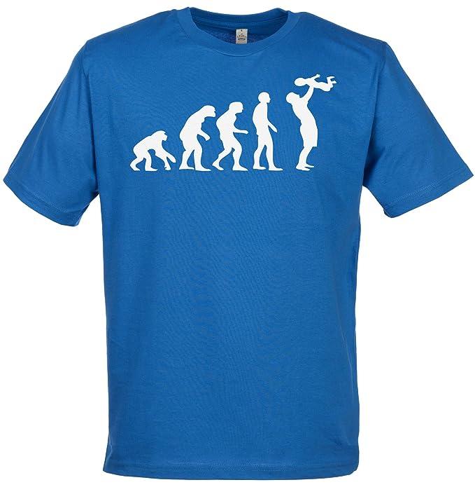 Spoilt Rotten SR - Evolution To A Dad Camiseta Hombre - camisetas padre - padre regalo - Camiseta El día de la padre: Amazon.es: Ropa y accesorios