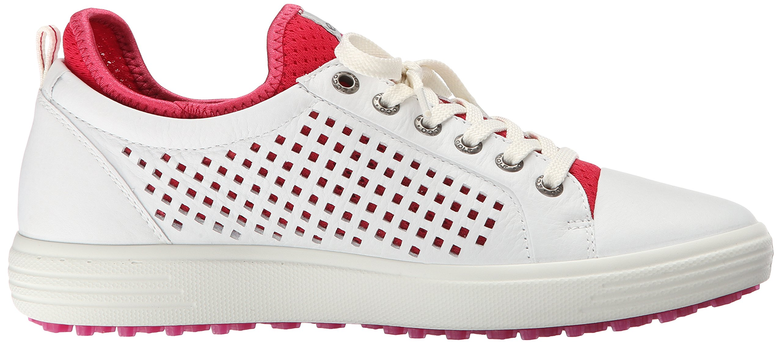 ECCO Women's Summer Hybrid Golf Shoe, White/Raspberry, 41 EU/10-10.5 M US by ECCO (Image #7)