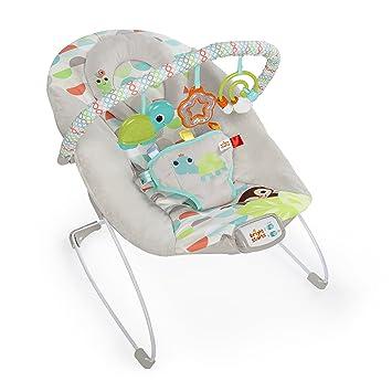abnehmbarem Spielbogen und interaktiven Spielzeugen Monkey Business mit Vibrationen Bright Starts Babywippe