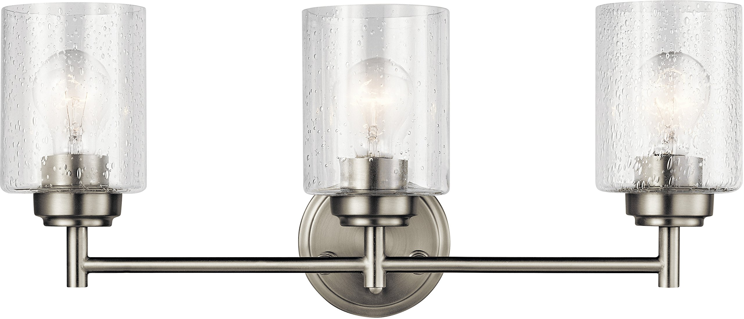 Kichler Lighting 45886NI Three Light Bath from The Winslow Collection, Brushed Nickel