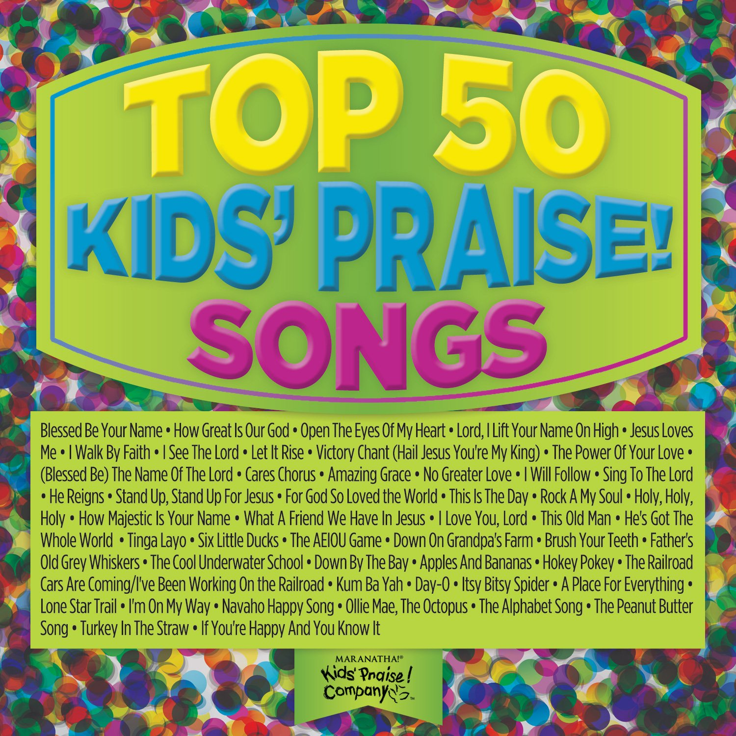 Top 50 Kids Praise Songs (Green) by Capitol Christian Distribution