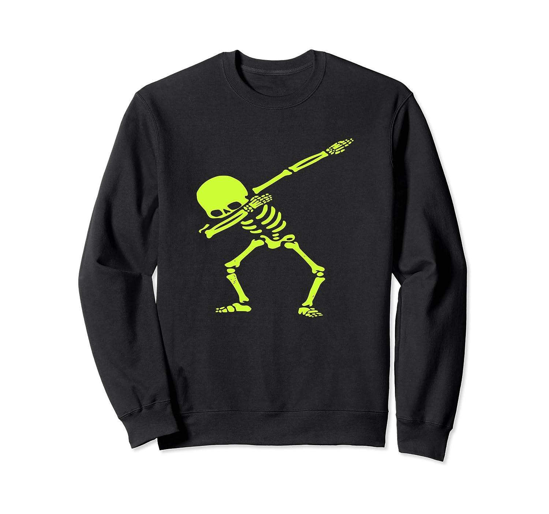 Dabbing Green Skeleton Dab Pose Halloween Sweatshirt-Rose