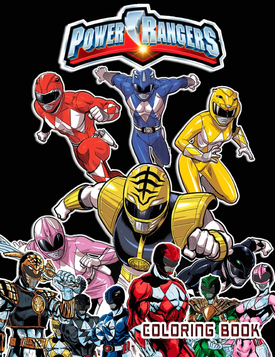 Power Rangers Coloring Book: 40 Coloring Pages: John Liwer ...