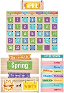 Creative Teaching Press Upcycle Style Calendar Set Bulletin Board (7061),Multi