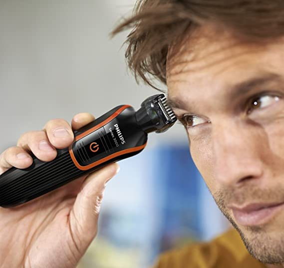 PHILIPS QG3341/16 - Kit para afeitado corporal 7 en 1, color negro ...