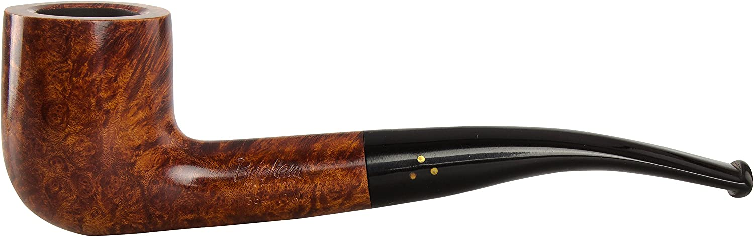 Brigham Mountaineer 323 Tobacco Pipe Bent Billiard Smooth