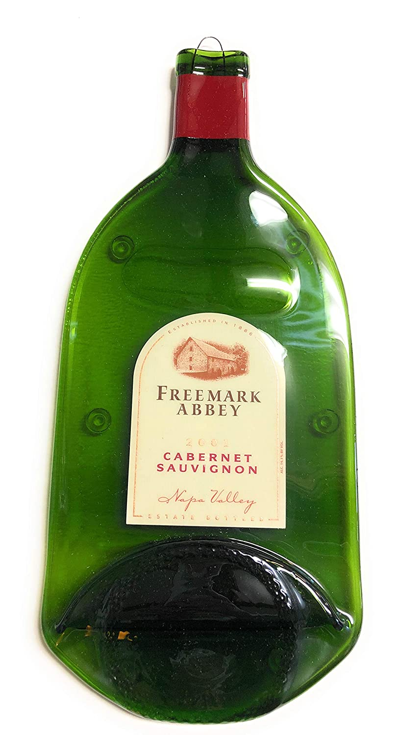 Amazon.com: Landfill Dzine Freemark Abbey Napa Valley - Melted Wine Bottle Cheese Serving Tray - Wine Gifts: Home & Kitchen