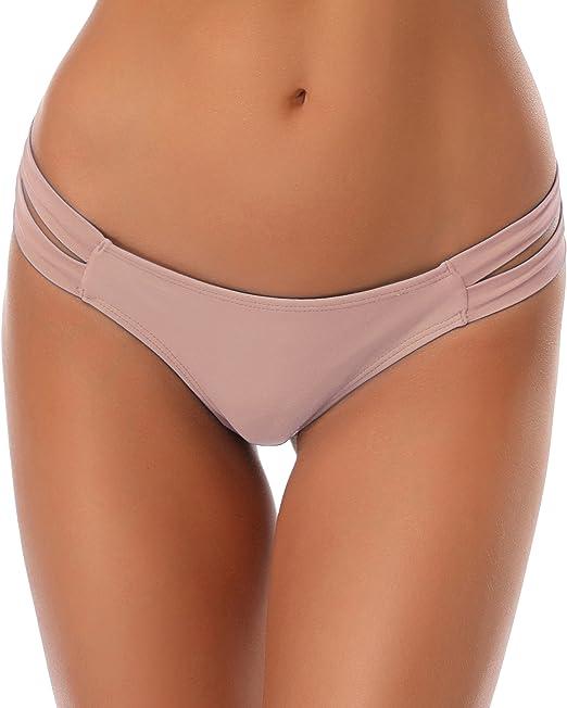 Damen Sommer Strand Bikini-Unterteil Schwimmanzug Bikini Triangle Hose Höschen