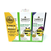 Zarbee's Child Natural Cough Syrup 3-day Pack Day/night Dk Honey Mucus Relief -...