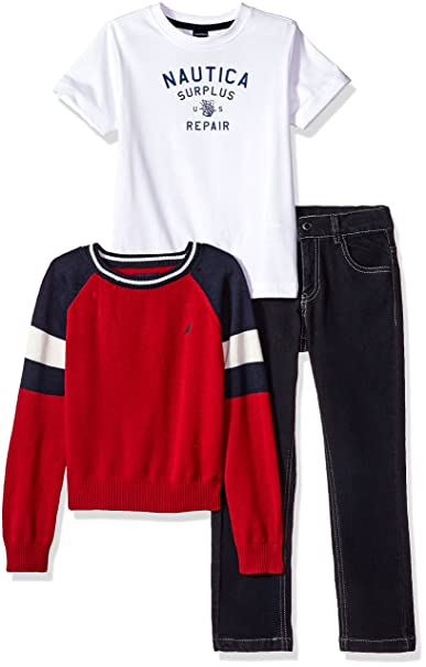 690de96b013b Nautica Little Boys Raglan Sweater
