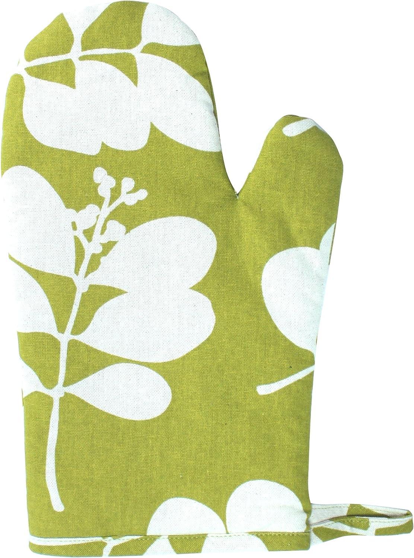 Dandi Organic Oven Mitt, Succulent Citronelle Green