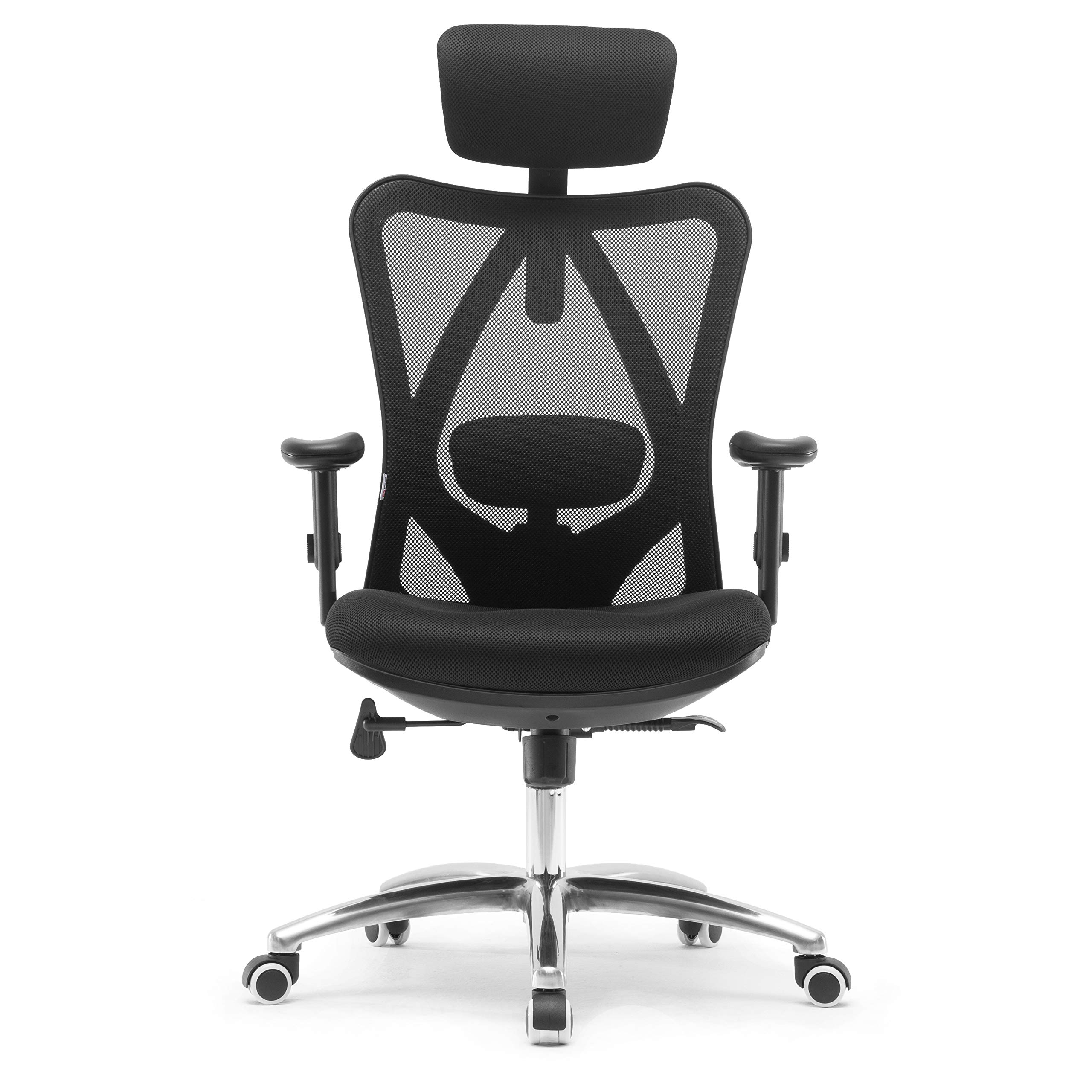 Sihoo Ergonomics Office Chair Computer Chair Desk Chair, Adjustable Headrests Chair Backrest and Armrest's Mesh Chair (Black) by SIHOO