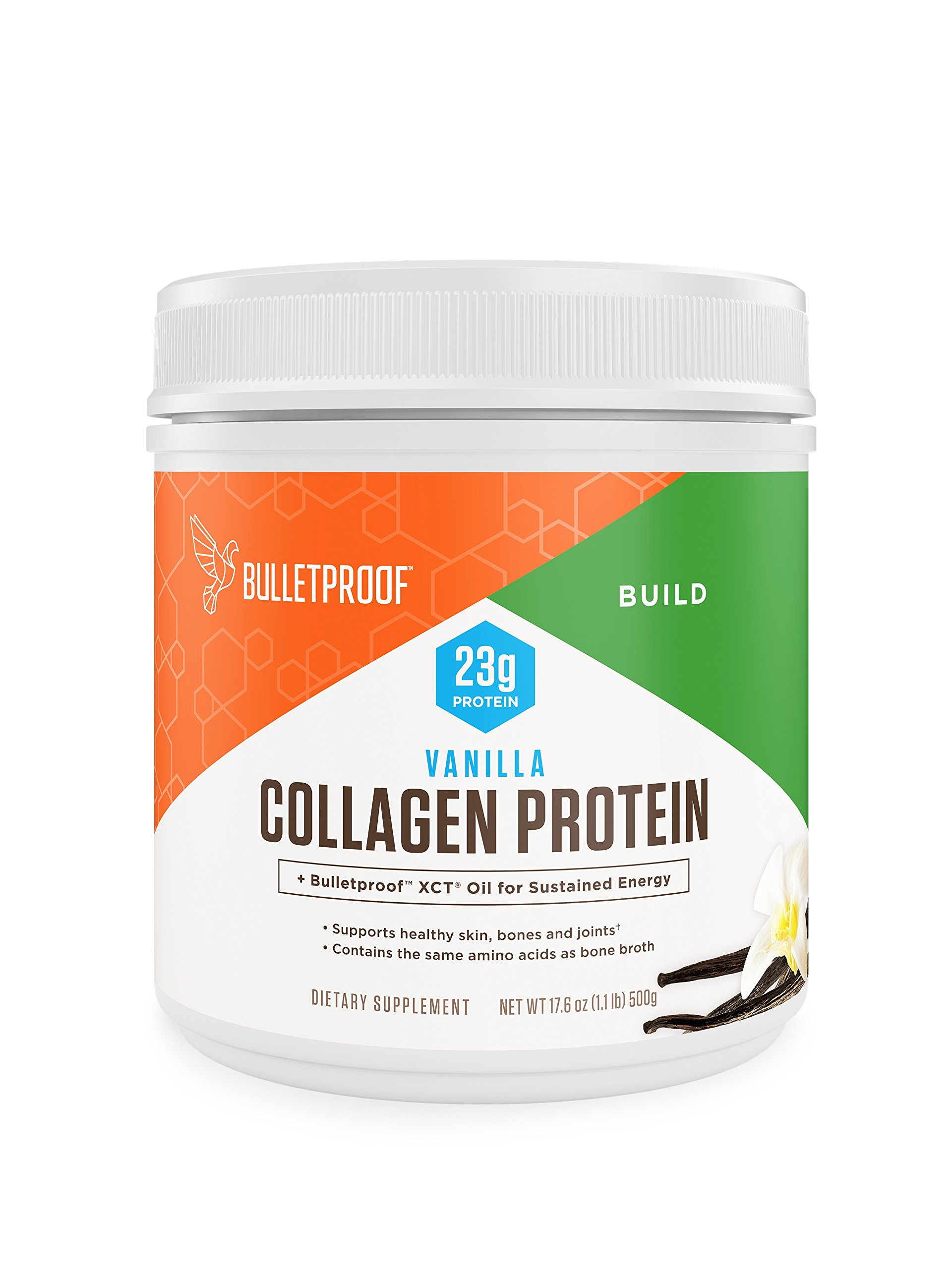 Bulletproof Collagen Protein Powder - Vanilla Flavored Hydrolyzed, Grass Fed, Pasture Raised, Ketogenic Diet, Amino Acid Building Blocks for High Performance (17.6 ounces)