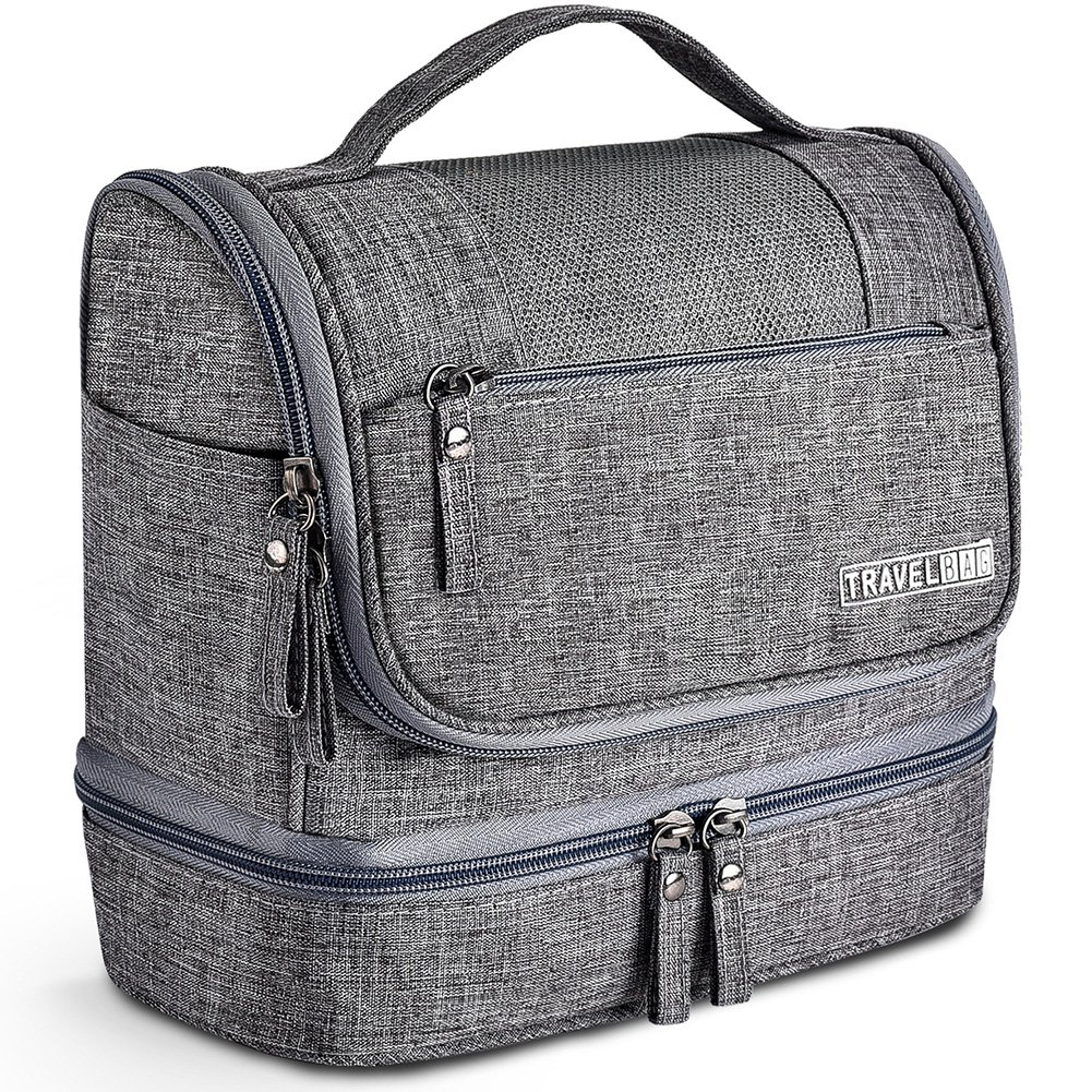 a03bd4ca6b5 Details about Toiletry Bag Hanging Travel Toiletry Organizer Kit Waterproof  Cosmetic Gray