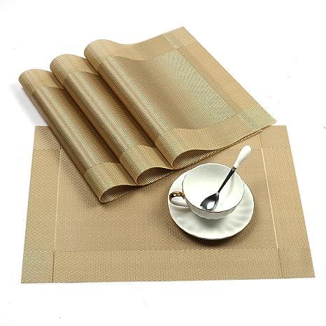 Stylish Anti-Slip Place Mat Cutlery Cushion Table Mat Heat-proof Pad Washable