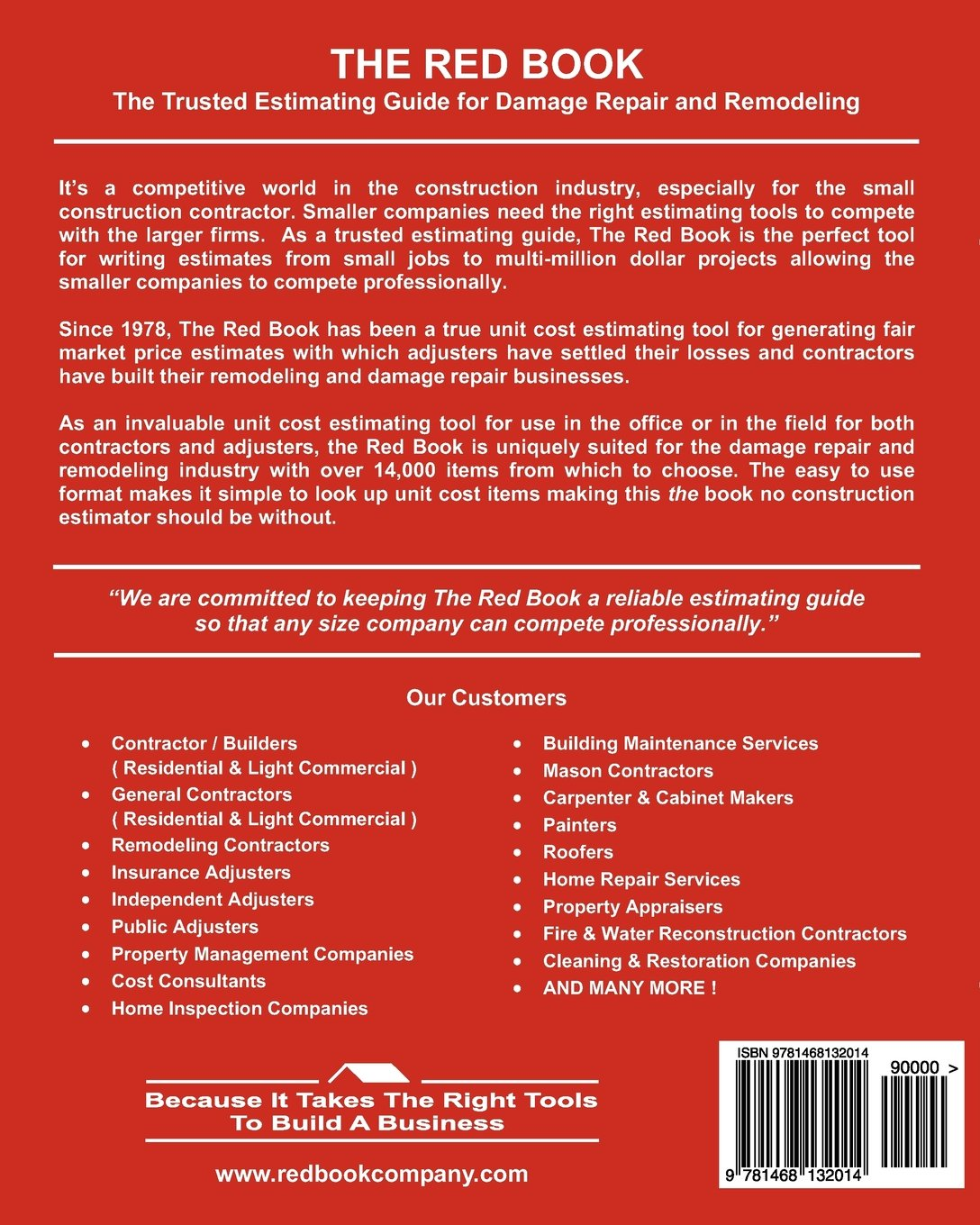 the red book unit cost estimator for construction insurance damage