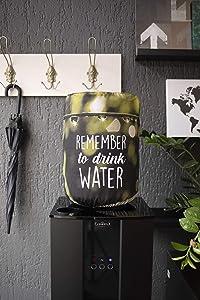 Remember Drink Reusable Fabric 5 Gallon Water Cooler Barrel Bottle Dispenser Sun Dust Cover Protector