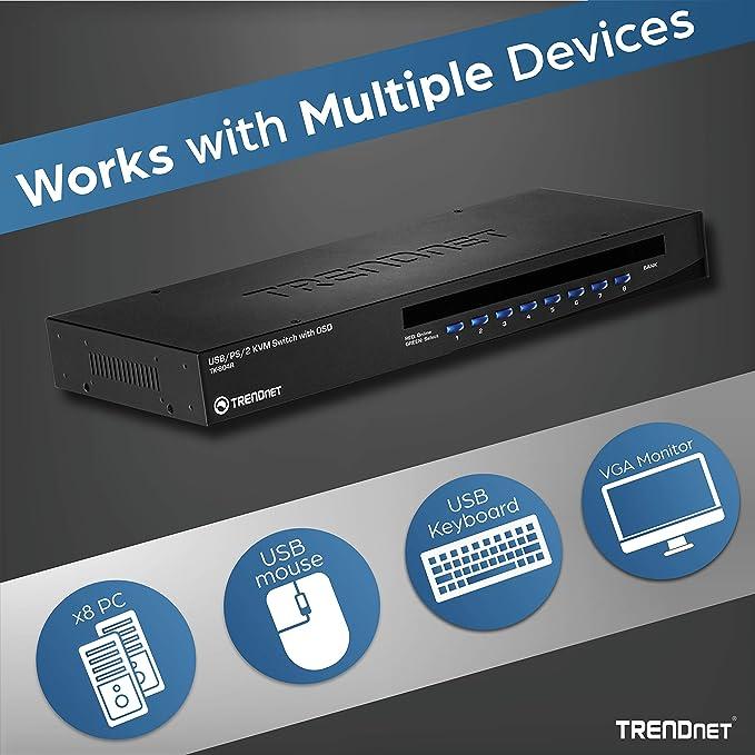 Trendnet Tk 804r 8 Port Stapelbarer Rack Mount Computer Zubehör