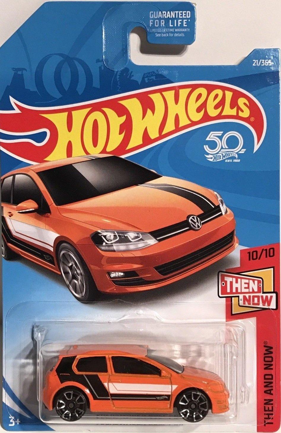 Hot Wheels 2018 50th Anniversary Then And Now Volkswagen Golf MK7 21/365, Orange