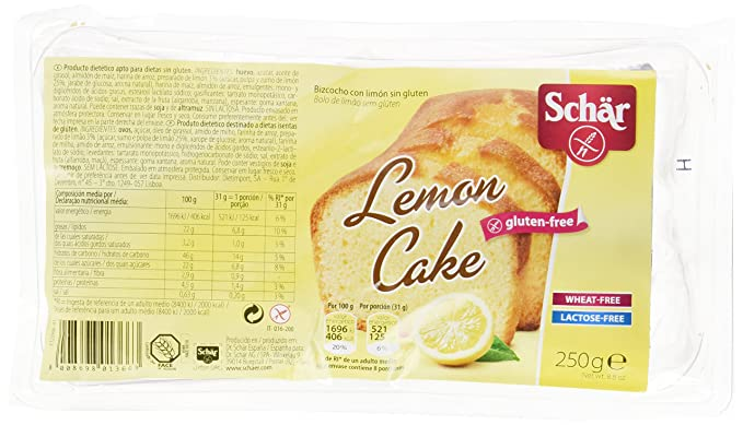 Dr. Schar Lemon Cake Plum Cake - 250 gr