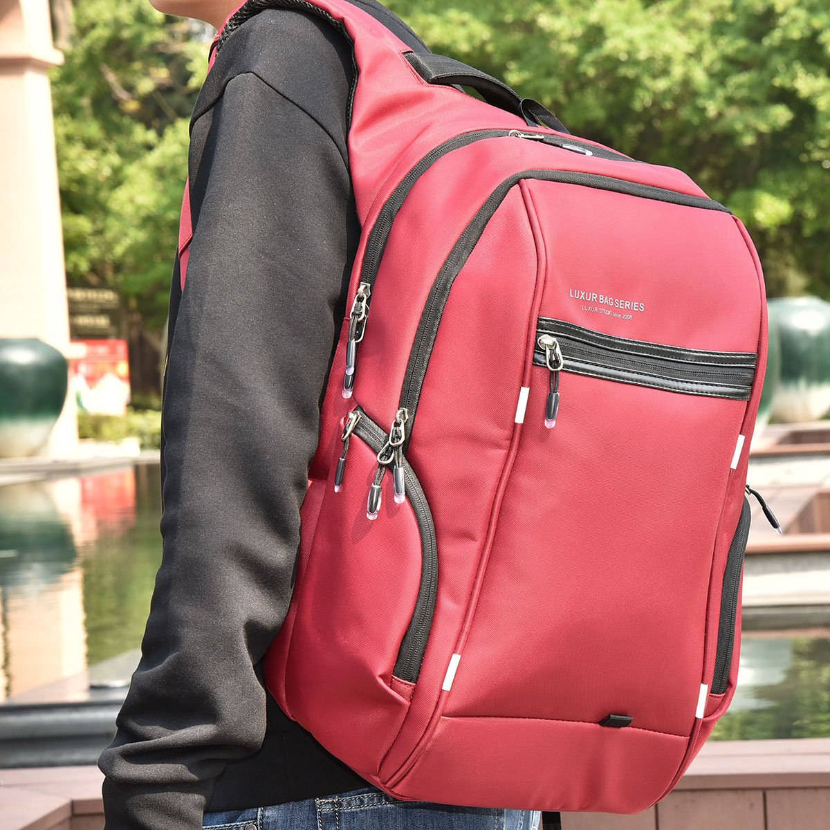 Nylon Waterproof Laptop Backpa...