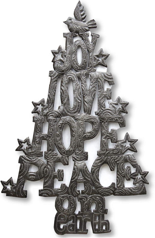 Christmas Decor Joy Metal Christmas Ornament Rustic Christmas