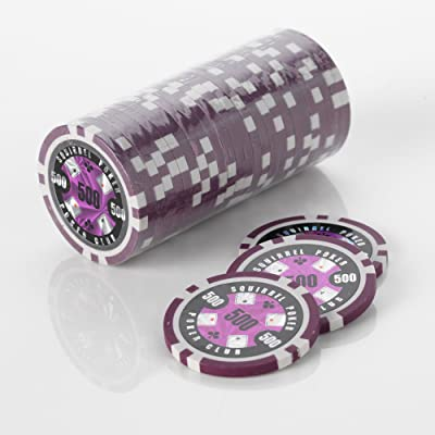 15 g – Poker Chips – Design écureuil Poker Poker Club 15 g Poker Chips couleur = Violet, valeur = 500 $
