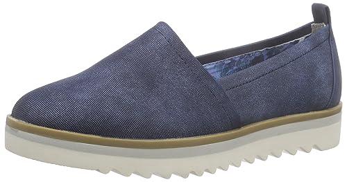 Marco Tozzi - 24702, Mocasines Mujer, Azul (Navy Antic 892), 42 EU: Amazon.es: Zapatos y complementos