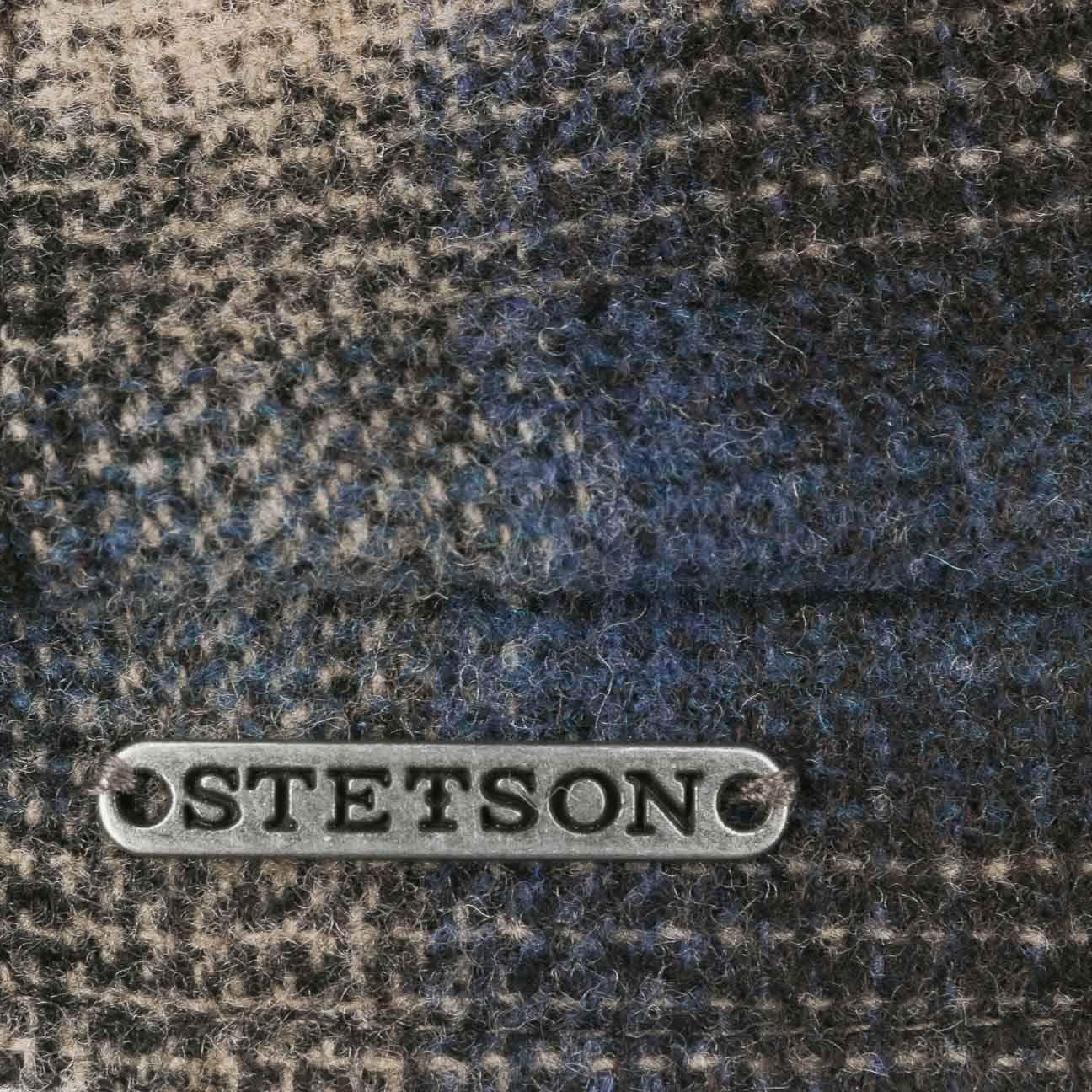 Fodera Autunno//Inverno Fodera Made in The EU Cappellino Lana Berretto Piatto con Visiera Stetson Coppola Hatteras Camanto Check Uomo