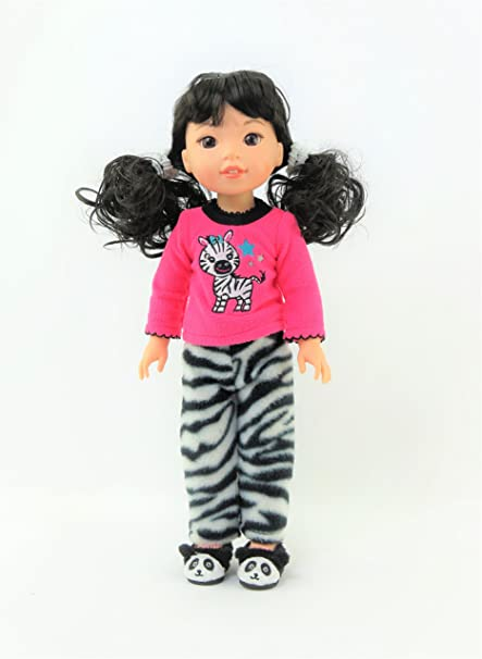 "Panda Bear Pajamas Fits 14.5/"" Wellie Wisher American Girl Doll Clothing"